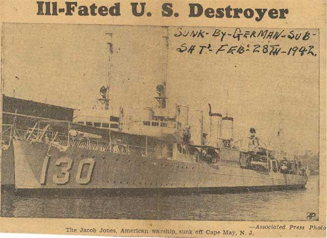 USS Jacob Jones, sunk on 28 February 1942 worldwartwo.filminspector.com