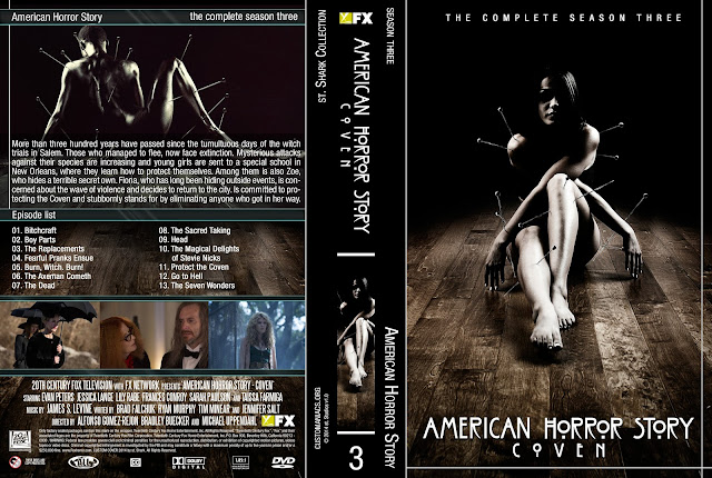 Capa DVD American Horror Story Coven Terceira Temporada