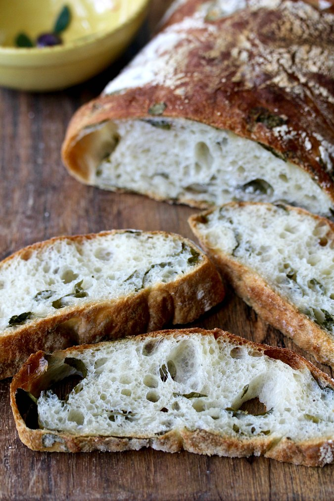 Kale and Garlic Ciabatta