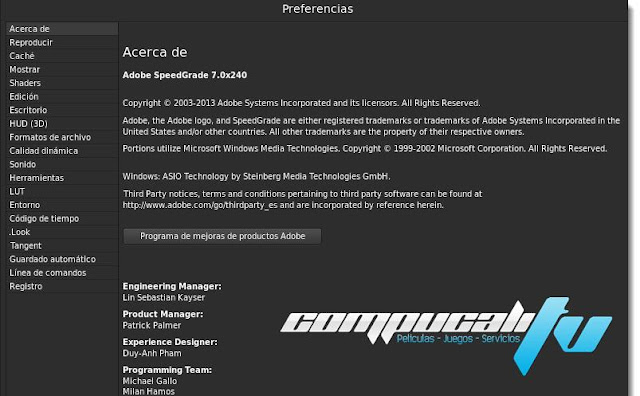 Adobe SpeedGrade CC Versión 9.0 Español