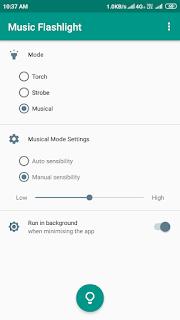 Music Flashlight ads free mod