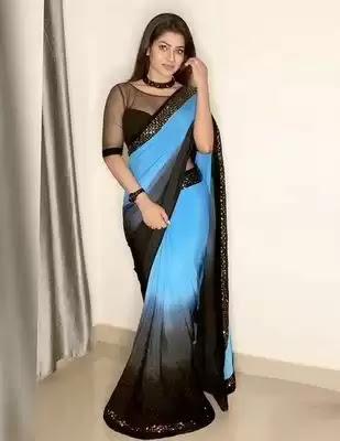 Actress Leesha Eclairs Latest Photos in Saree