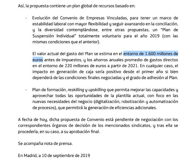 Hecho Relevante remitido a la CNMV de 10 de septiembre de 2019.
