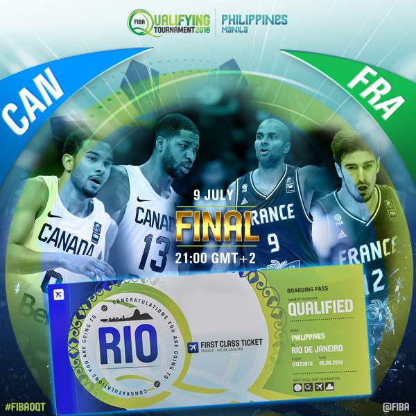 #FIBAOQT: FCanada vs. France by FIBA