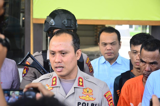 Konfrensi Pers Ungkap Kasus Penyerangan Terhadap Kepala Sekolah SMAN 10, Dipimpin Langsung Oleh Kapolres Tanjab Barat
