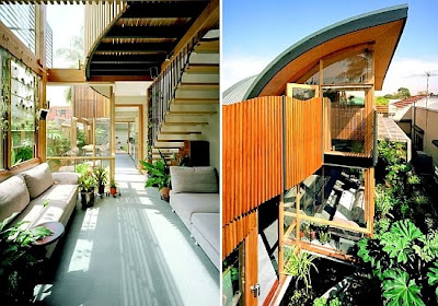 Diseño arquitectónico y de interiores en  casa ecológica