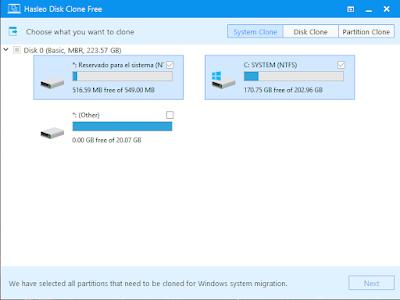 Hasleo Disk Clone 2.2 - Migrar Windows a otro disco y clonar discos duros