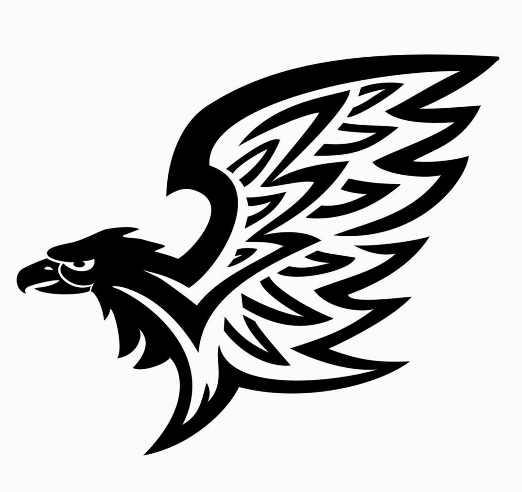 Eagle wing tribal tattoo stencil