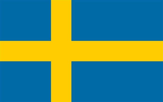 Bayrağında sarı olan ülkeler İsveç bayrağı