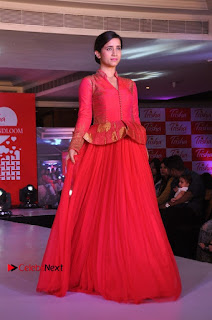 South Indian Celebrities Pos at Love For Handloom Collection Fashion Show  0047.jpg