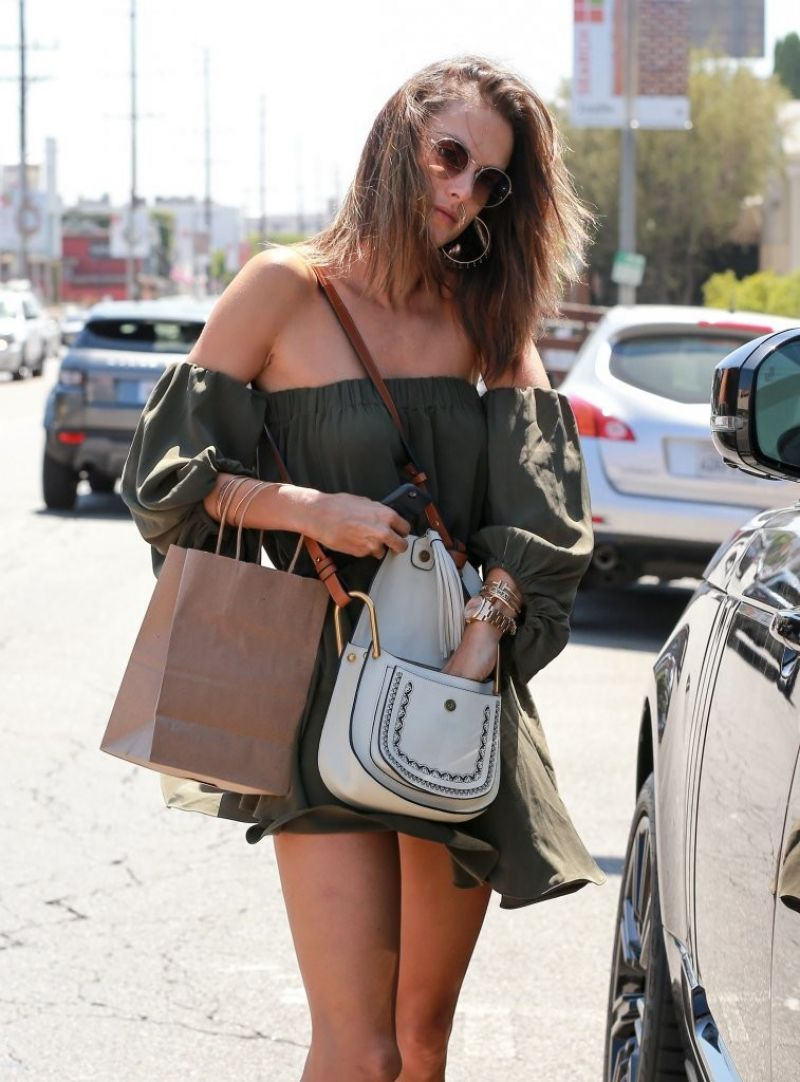 HQ Photos of Alessandra Ambrosio in shorts out in West Hollywood 2016