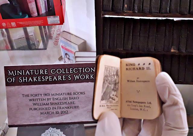 Miniature Shakespeare book at  Book Museum cum Ethnology Center in Marikina