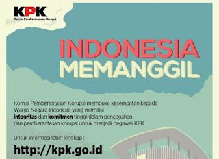 Di Buka Lowongan Kerja! Komisi Pemberantasan Korupsi (KPK) Indonesia Juli – Agustus 2018