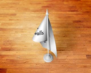 My 4 Walls Table Flag Design Branding