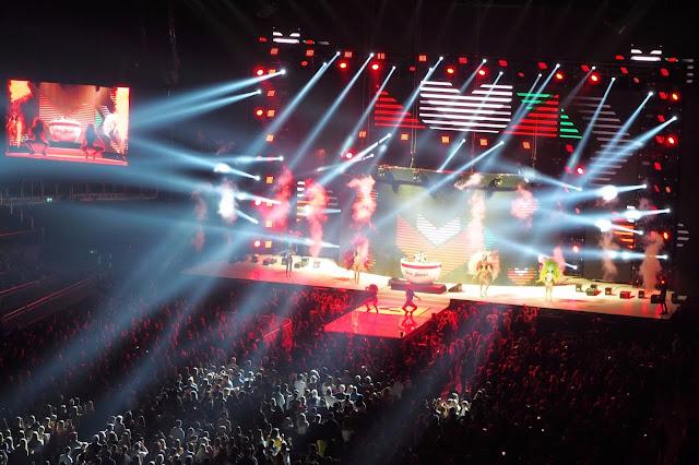 Performers at arena