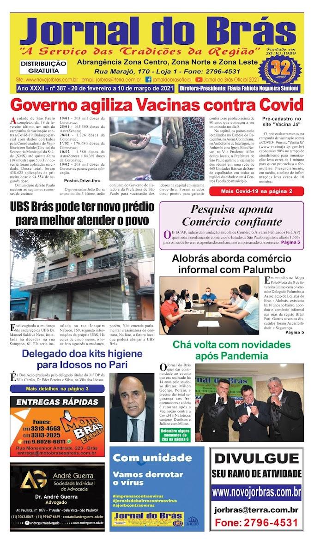 Destaques da Ed. 387 - Jornal do Brás