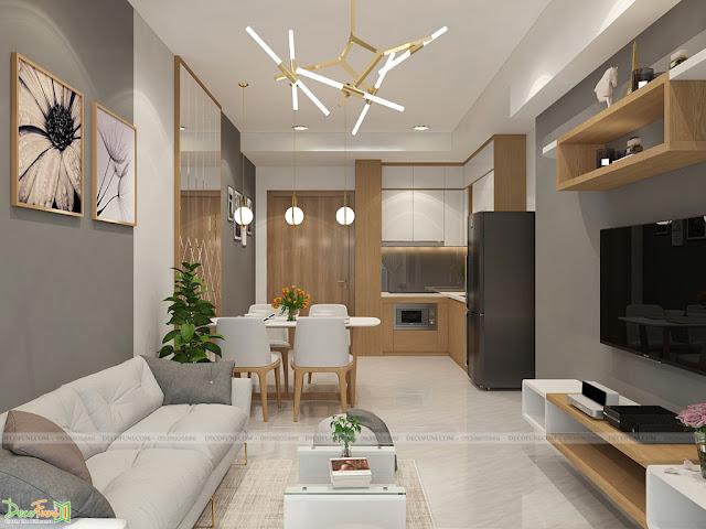 Thiết kế và thi công nội thất căn hộ chung cư Celadon City quận Tân Phú - Phòng khách