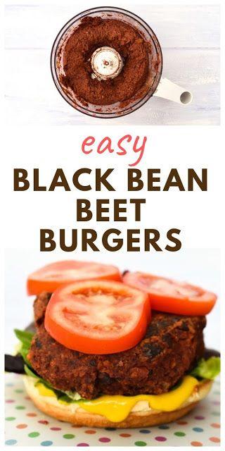 BLACK BEAN, BEET & BRAZIL NUT BURGERS