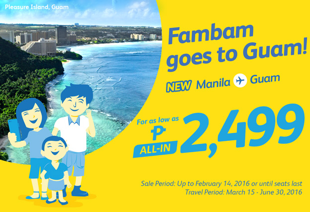 Cebu Pacific Promo Fare Guam February 2016