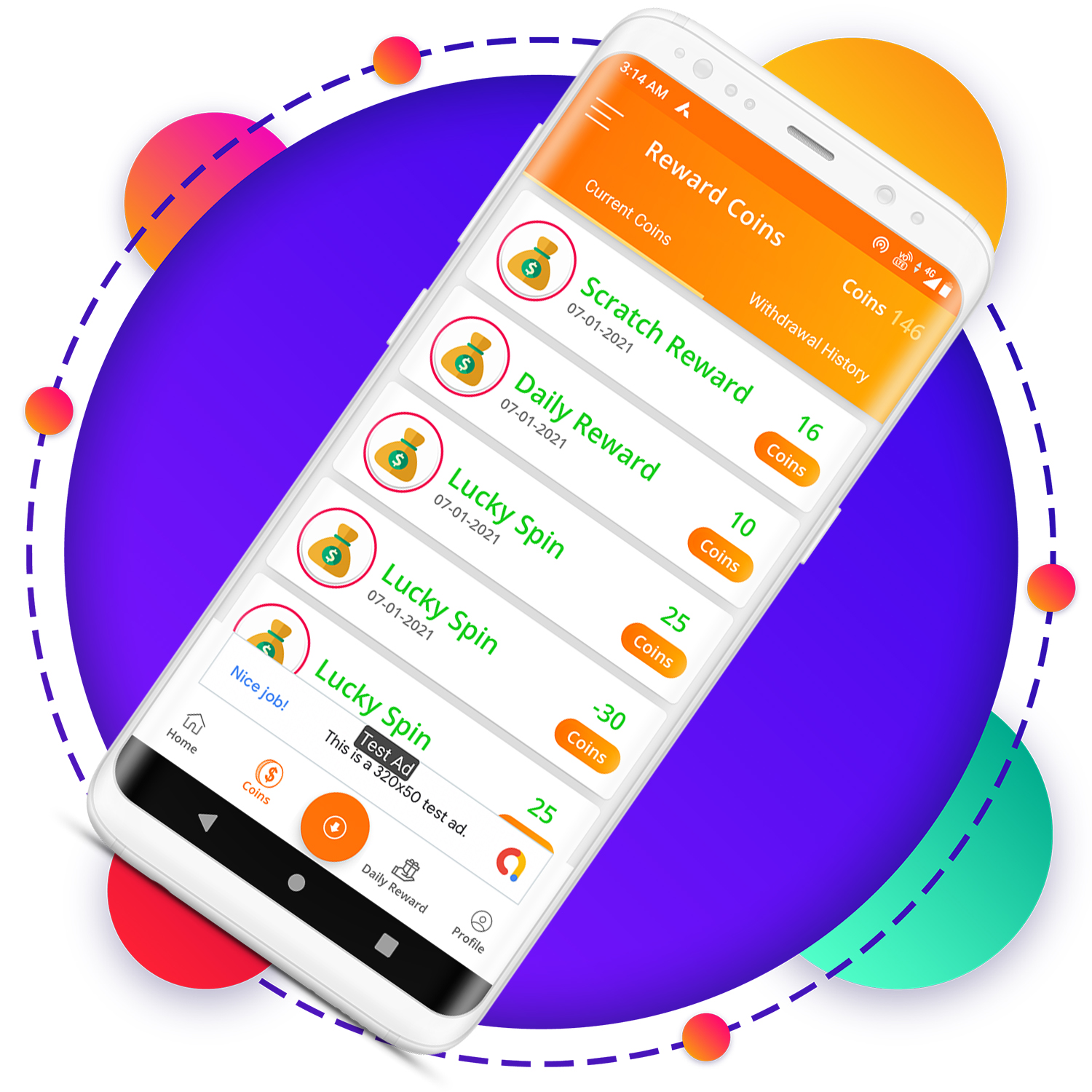 QuickCash All In One Money Earning Android App + Games + WhatsApp Tools + Earning System Admin Panel - 1