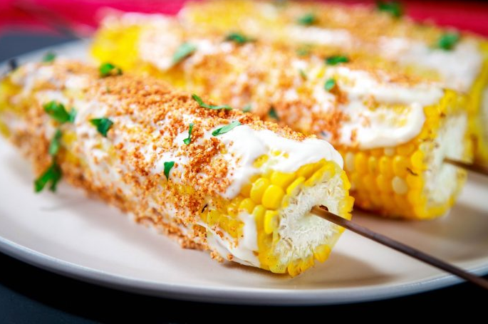 MEXICAN STREET CORN #rice #vegetarian #dinner #vegan #corn
