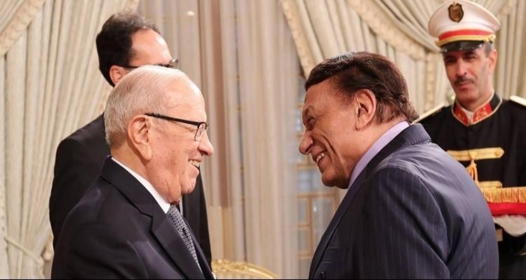 تصرف صادم من عادل إمام مع الرئيس التونسي عندما خاطبه باللغة الفرنسية