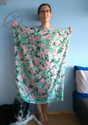 Adzik tworzy - szycie DIY sukienka trapezowa z chusty