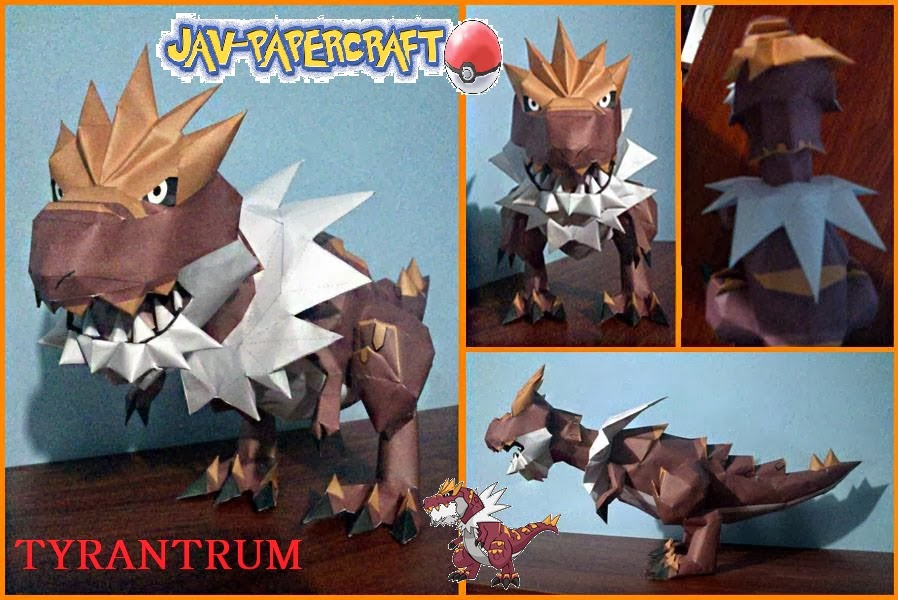 Pokemon Tyrantrum Papercraft Paperkraft Net Free