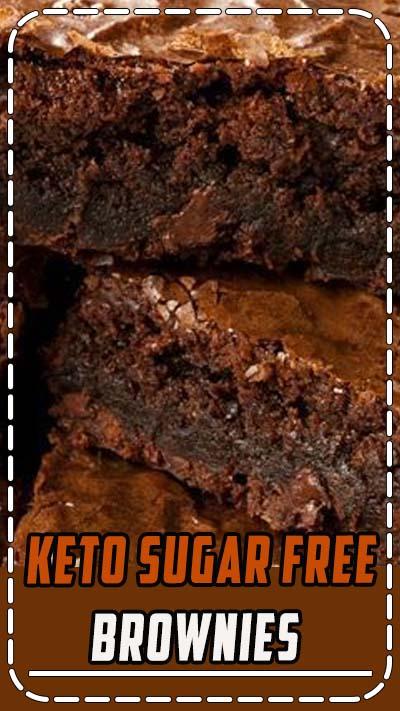 Keto Sugar Free Brownies - A keto low carb sugar free recipe for brownies. #brownies #dessert #recipe
