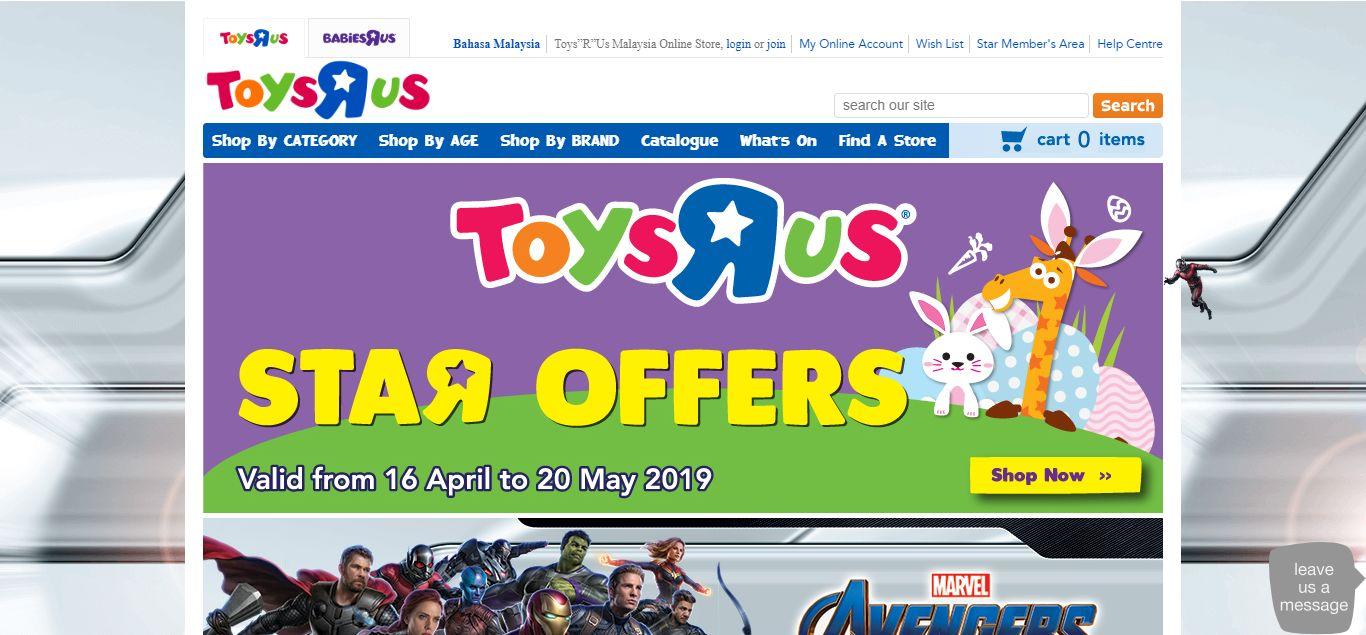 "Toys""R""Us e-commerce"