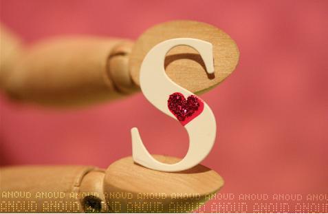 صور حروف خلفيات رومانسية مكتوب عليها حرف s
