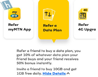 Refer a data plan on My MTN App