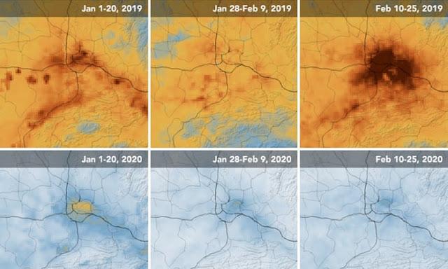 الأثر الحقيقي لفيروس كورونا على البيئة والتلوث وأيضا على تغير المناخ