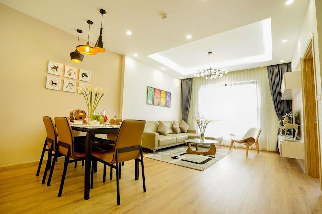 Thiết kế căn hộ mẫu loại 2 phòng ngủ diện tích 67m2