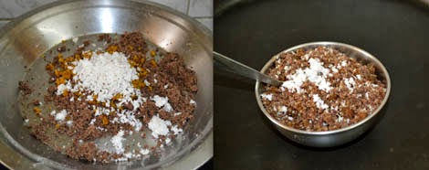 how to make ragi puttu