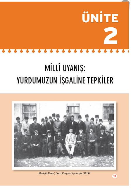 8. Sınıf İnkılap Tarihi Top Yayınları Çalışma Kitabı Cevapları Sayfa 19