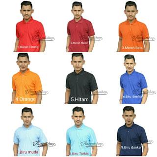 Koleksi 22 Warna Kaos Polo Pria VincentShop