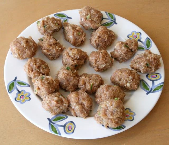 Tender meatballs in egg sauce