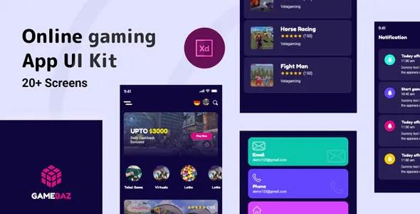 Best Online Gaming App UI Kit