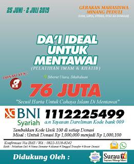 Mahasiswa Minang Peduli Dakwah di Mentawai
