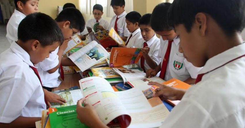 TEXTOS ESCOLARES: Este lunes será presentado informe preliminar al MINEDU