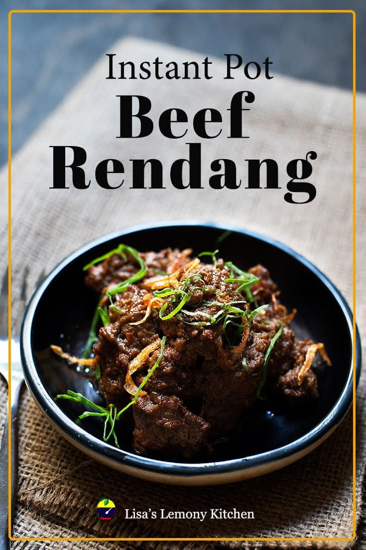 An authentic, delicious and juicy Bend Rendang beef recipe ever!  The pieces of beef are cooked in many spices, coconut milk until the fork softens.  The sauce is stewed until almost dry and still covers the beef to give a more intense and deeper taste.  Serve Bend Rendang with Lemang