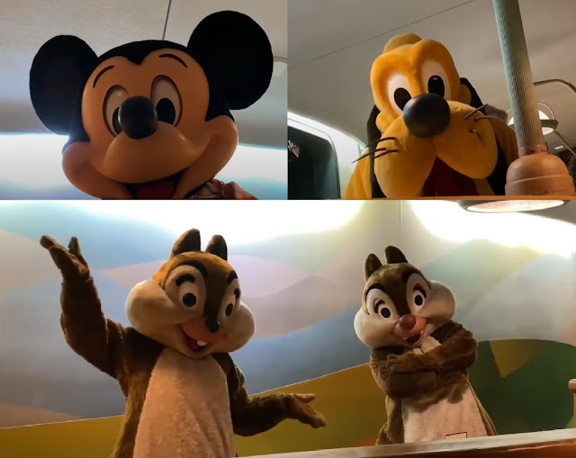 Reimagined Character meet and greets Chip and Dale, Mickey, Pluto Garden Grill Restaurant Phased Reopening EPCOT Walt Disney World Resort