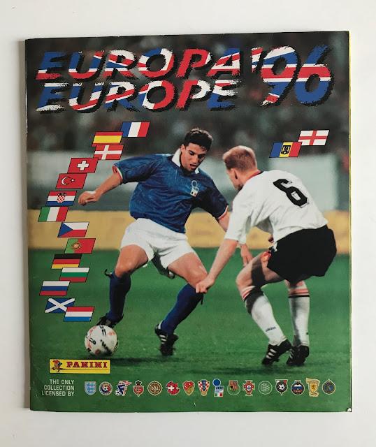 Copertina Album Panini Euro '96