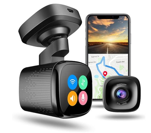 JOMISE FHD Car Dash Cam camera records