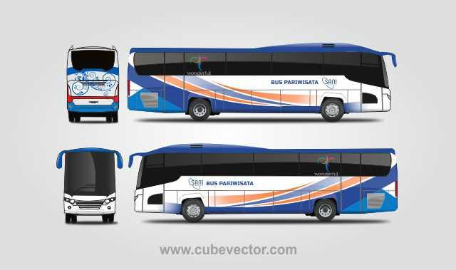 Livery Bussid Pariwisata Vector Format CorelDRAW - Download