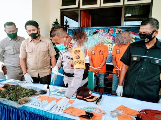 Terlibat Kasus Narkotika,Tiga Pelaku Diamankan Petugas