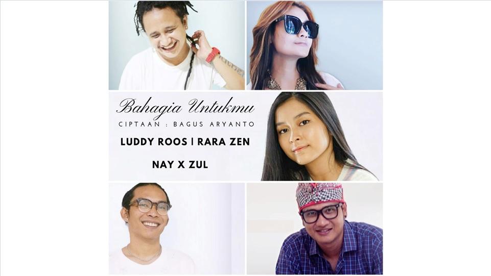 Empat Artis Penyanyi Indonesia Records yang ikut project lagu Bahagia Untukmu 3 versi. (Dok. Istimewa)