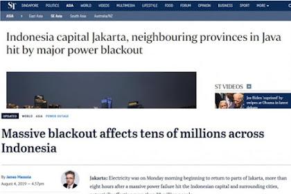 Disorot Media Asing, Listrik Padam Massal di Jawa Mendunia