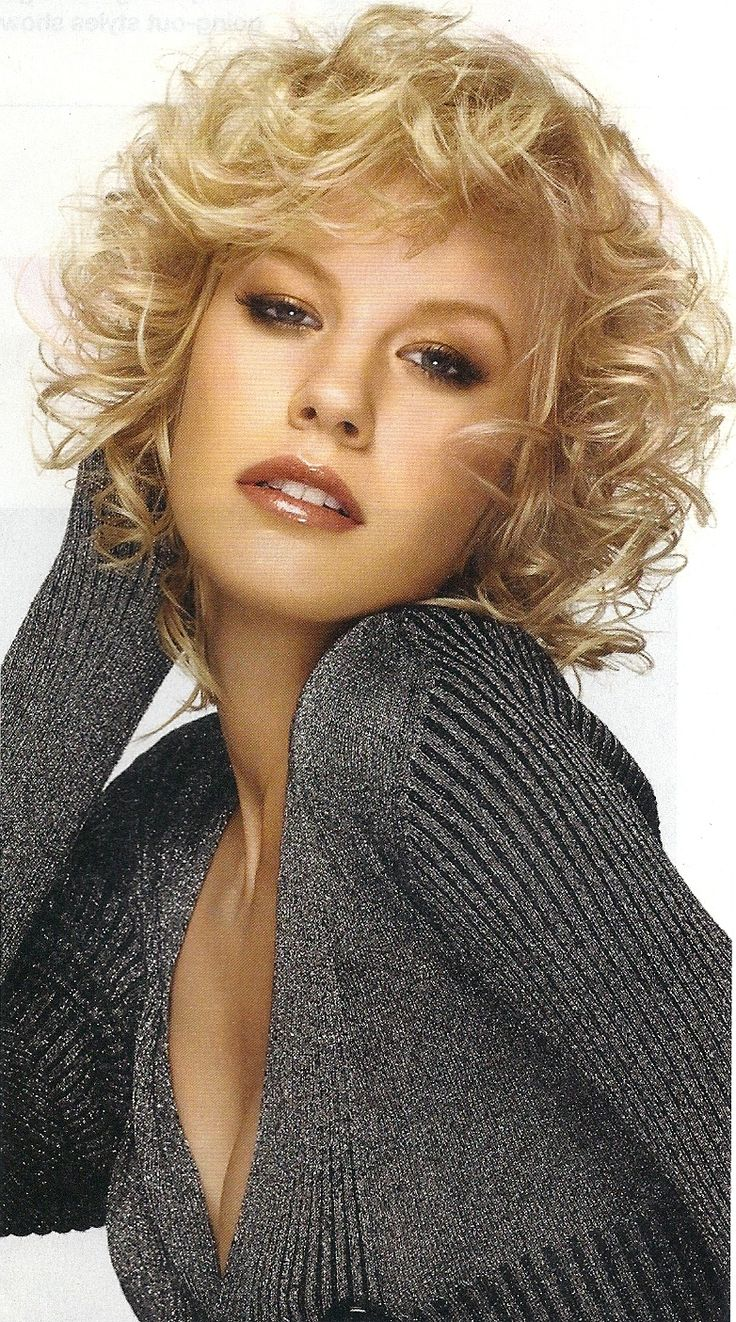 Short And Medium Blonde Curly Hair The Haircut Web